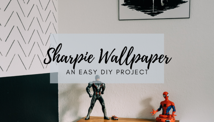 DIY Herringbone Sharpie Wallpaper