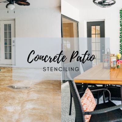 Stenciled Concrete Patio