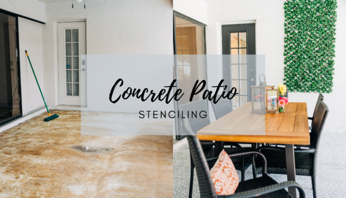 Stenciled Concrete Patio