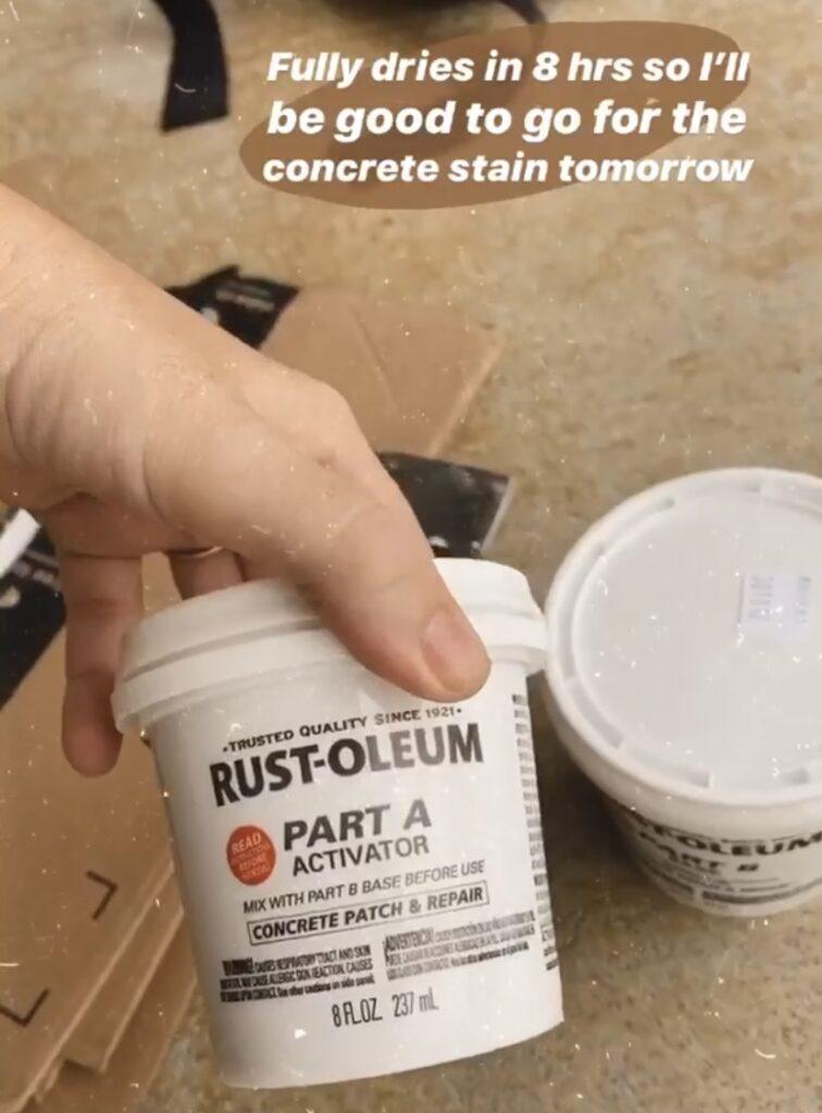how to repair concrete with the rustoleum concrete repair kit