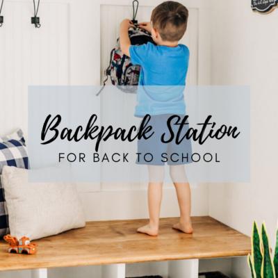 DIY BACKPACK STATION