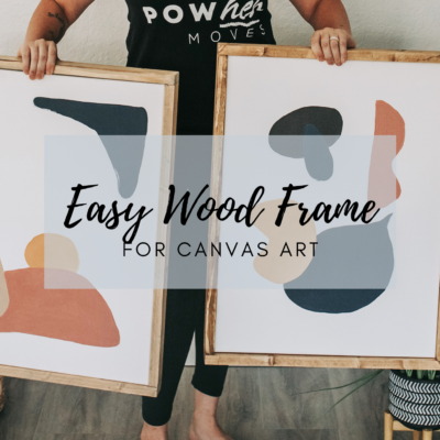 DIY Wood Frame for Canvas Art