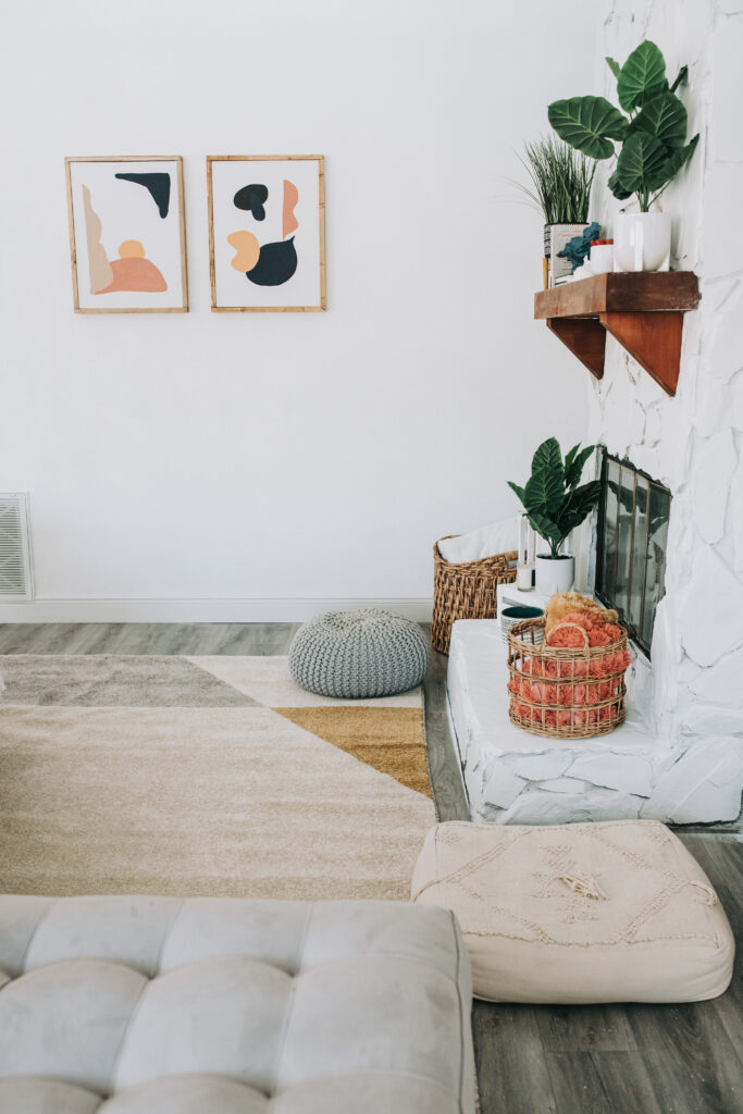 summer home decor refresh, home decor on a budget, bealls outlet home decor finds, mid century modern living room, Wayfair rug