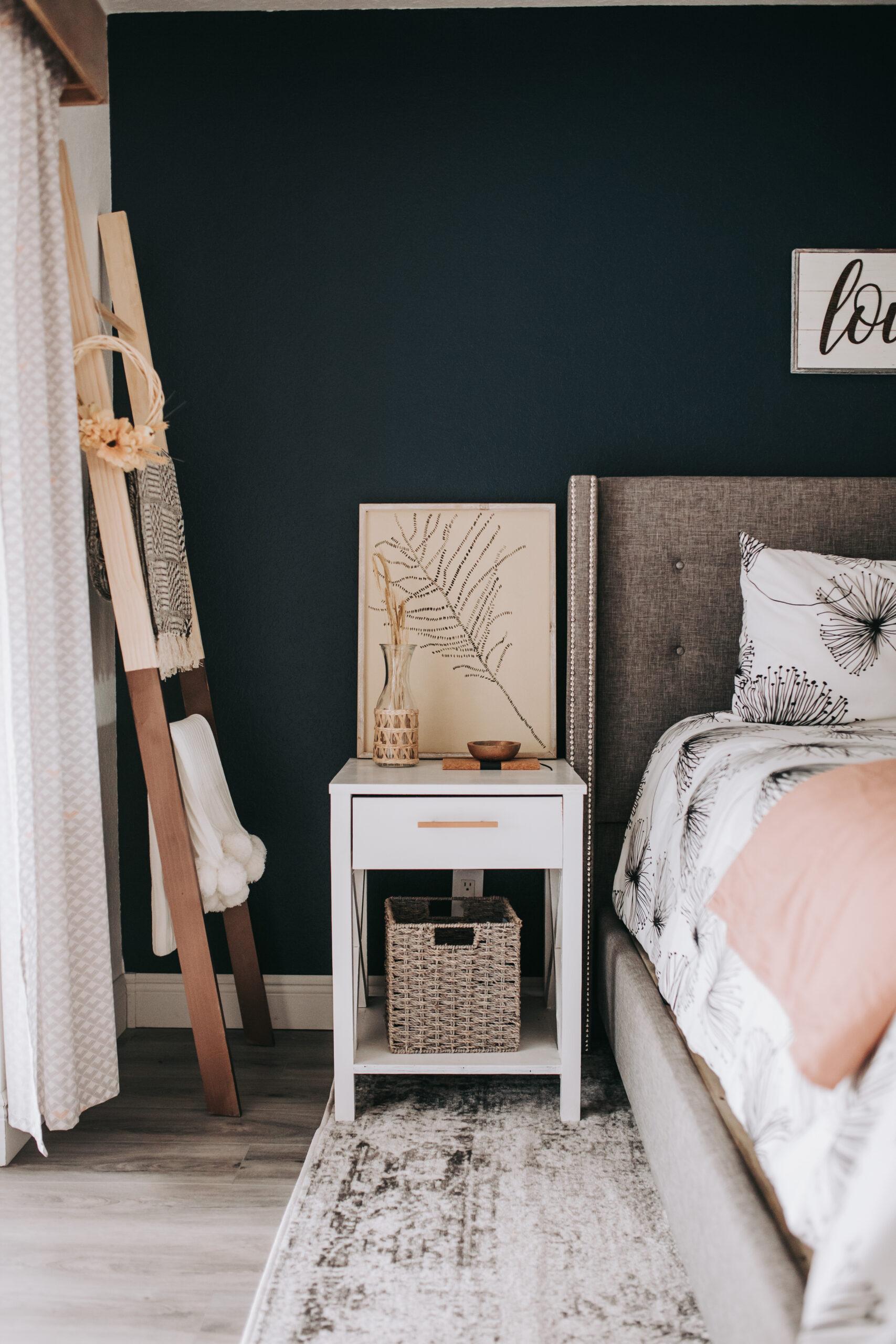 #blanketladder #diy #potterybarn fall bedroom decor, Create a blanket ladder diy for $20. Beginner friendly tutorial on how to make a blanket ladder