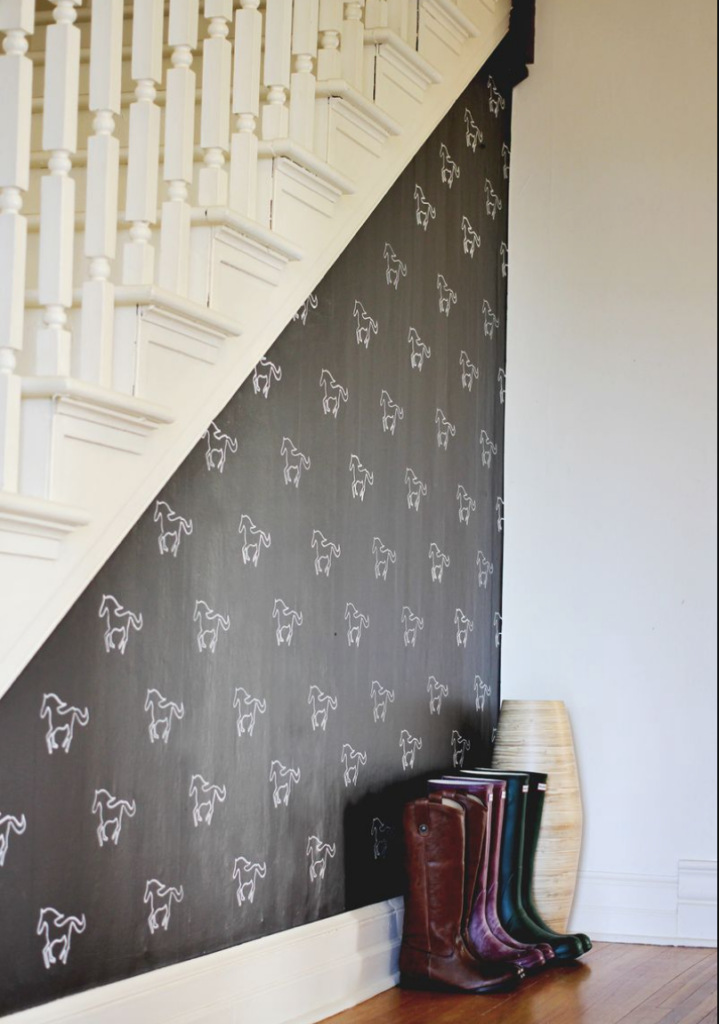 DIY Custom Stenciled Wall by A Beautiful Mess