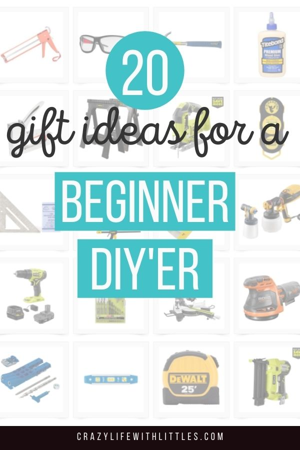 #giftguide #diy #beginnerDIY 20 gift ideas for the beginner DIY'er in your life. Top home improvement tools for home renovation, furniture flipping and woodworking.