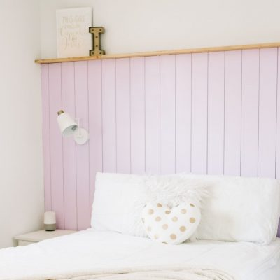 Boho Chic Vertical Shiplap Accent Wall