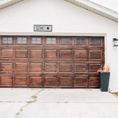Create a Faux Wood Garage Door with Gel Stain