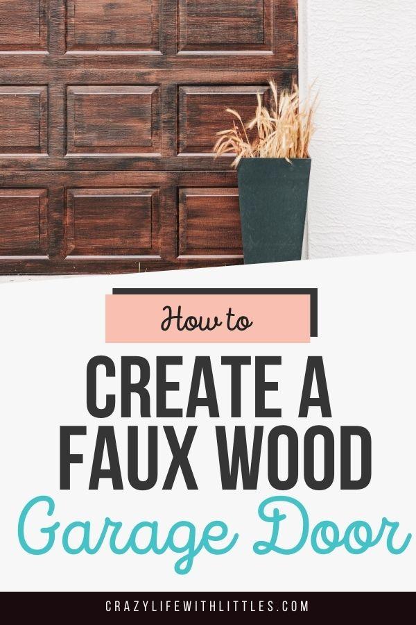 create a faux wood garage door, inexpensive exterior home updates, how to paint your garage door