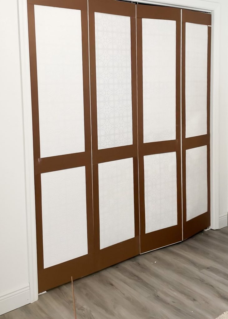 adding hardboard trim to basic bifold doors