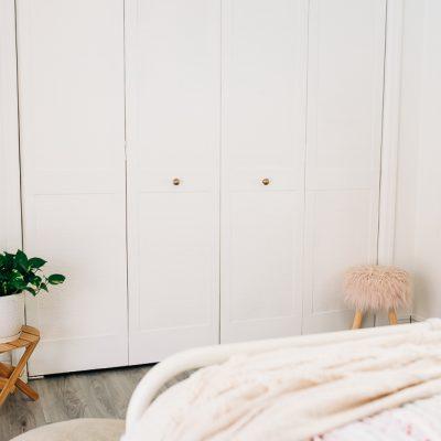 Bifold Door Update with Wallpaper