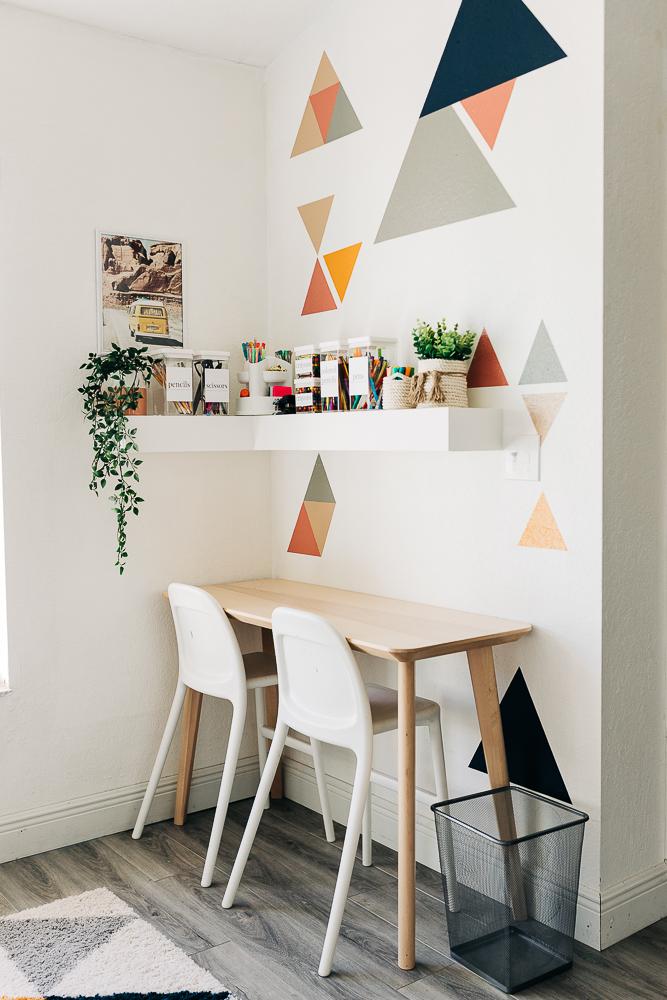 DIY Playroom Shelf, homework station for back to school
