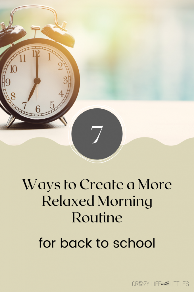 back to school morning routine with kids
