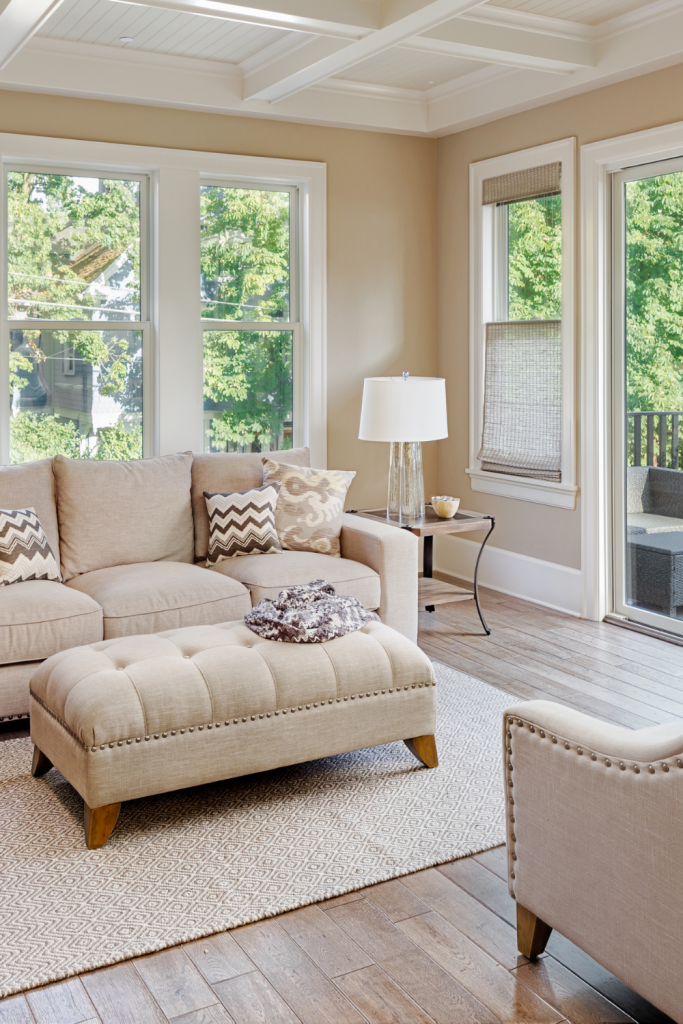 how to choose the right rug size for your living room, area rug tips