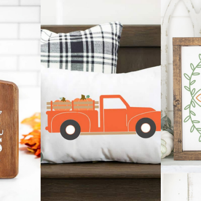 20 Ways to Create Fall Decor with your Cricut