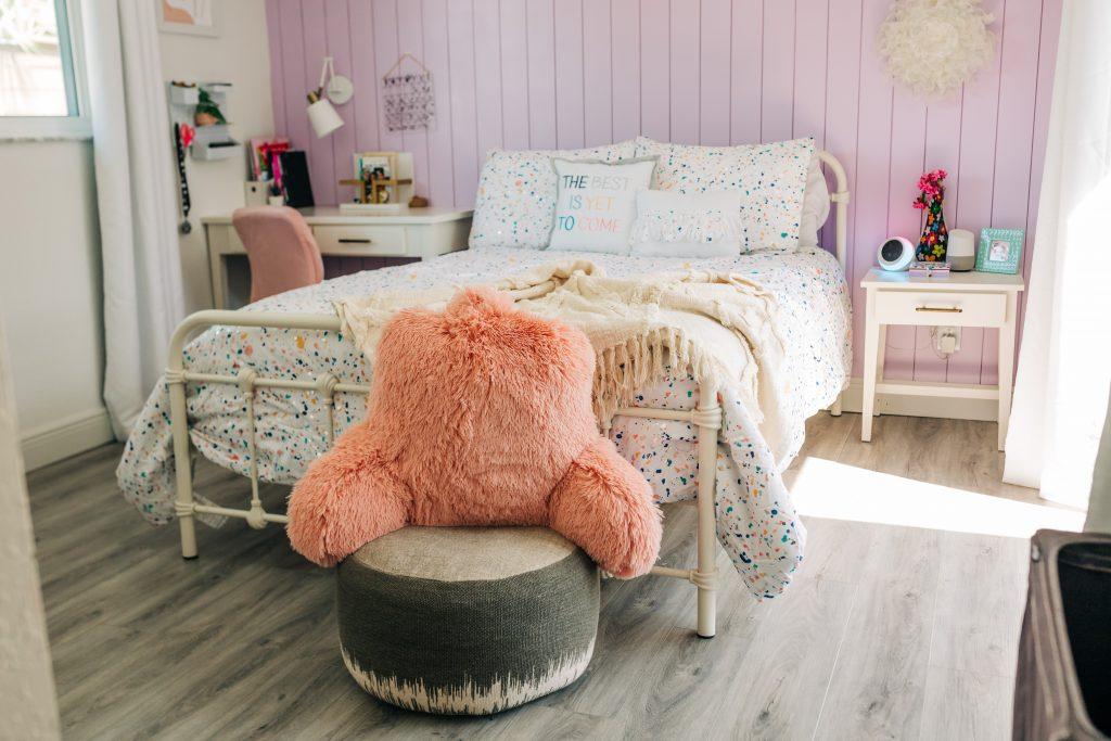 girls bedroom update; tween bedroom refresh with walmart home