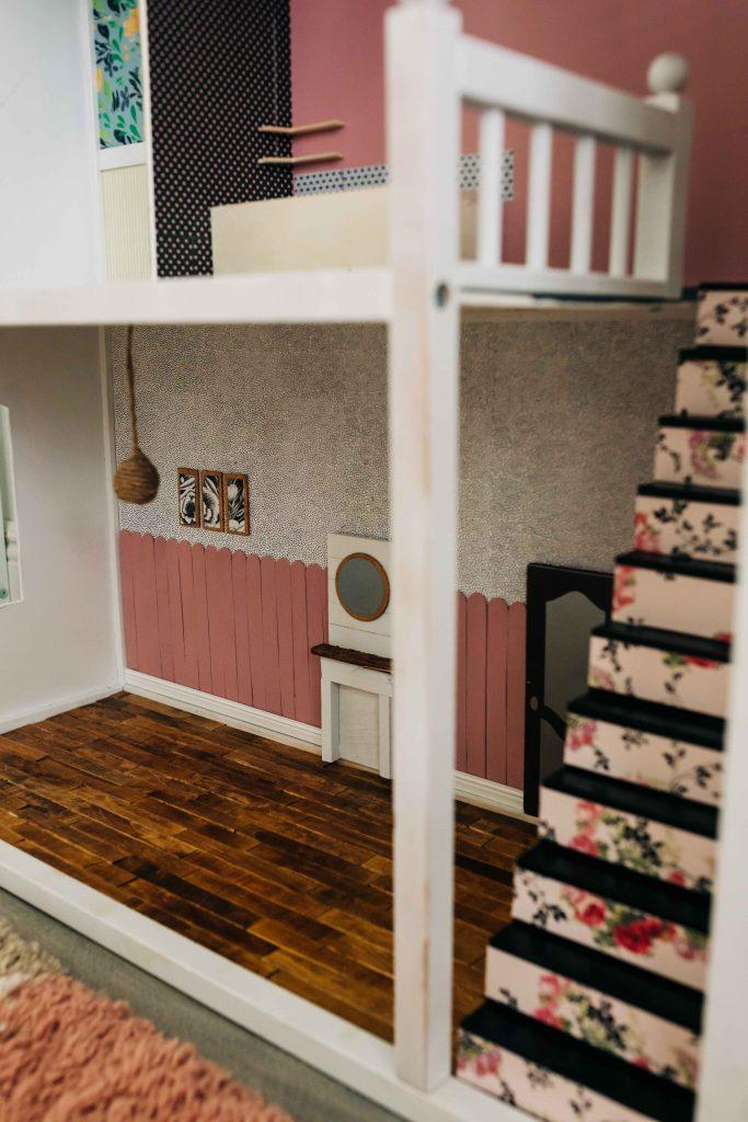 kidkraft dollhouse modern makeover