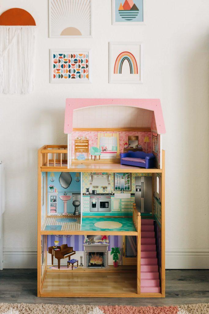 kidkraft dollhouse makeover before